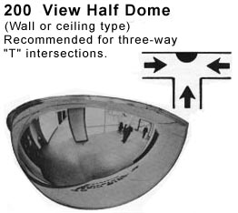 Half Dome Mirrors For T Intersections Where You Need To