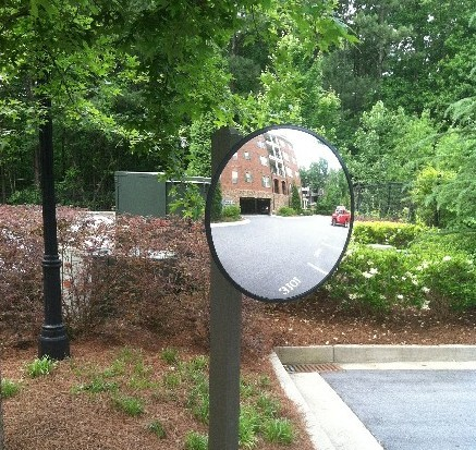 12 inch Convex Steel Back Mirror