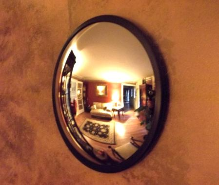 Checkout Isle Convex Mirror Fengshui Flush Wall Mounted
