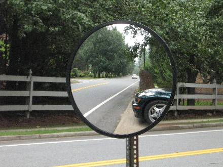 Image result for mirror and road