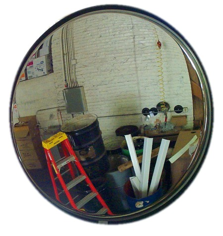 Stainless Steel Convex Mirrors Construction Site Traffic